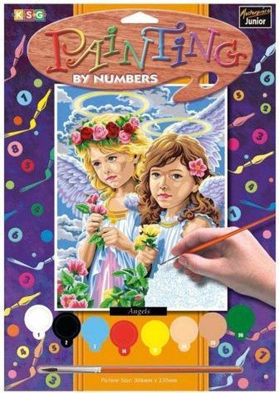 Schilderen op nummer - Sequin Art • Junior painting by numbers angels