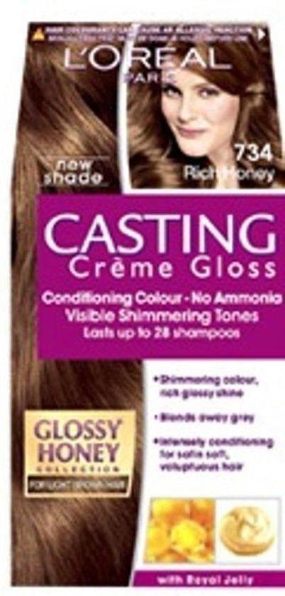 L'Oréal Paris Casting Crème Gloss 734 - Goudkoperblond - Haarverf - L'Oréal Paris