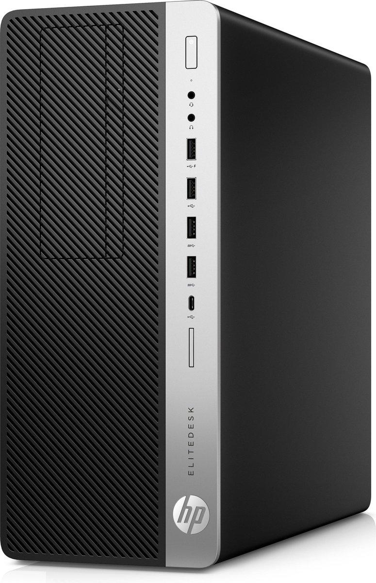 HP EliteDesk 800 G5 Intel  9de generatie Core  i5 9500 16 GB DDR4-SDRAM 512 GB SSD Tower Zwart PC Wi
