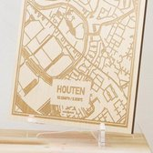 Kaart Houten -  Gegraveerde stadskaart Hood&Wood - Hout, A4