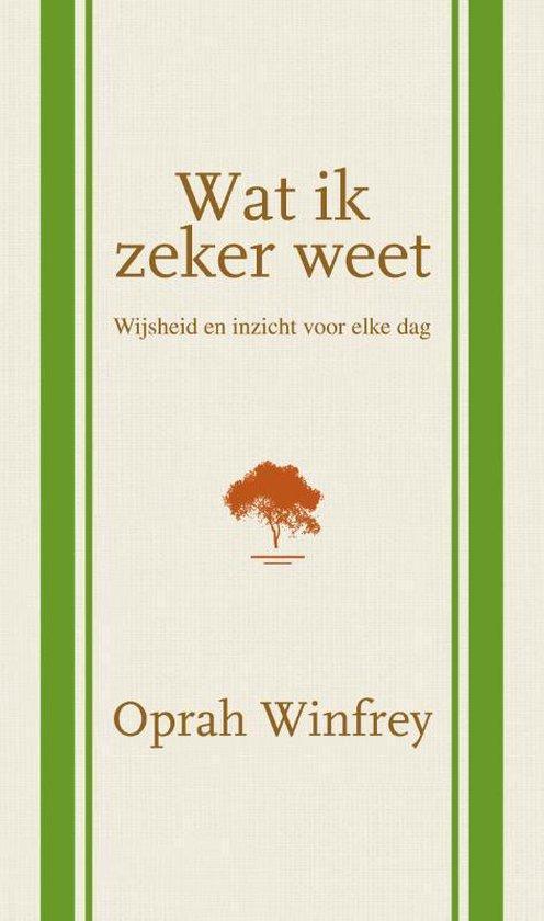 Boek cover Wat ik zeker weet van Oprah Winfrey (Hardcover)