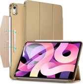 iPad Air (2020) hoes - 10.9 Inch - Yippee Tri-fold - Slim Fit Smart Stand Case - Goud