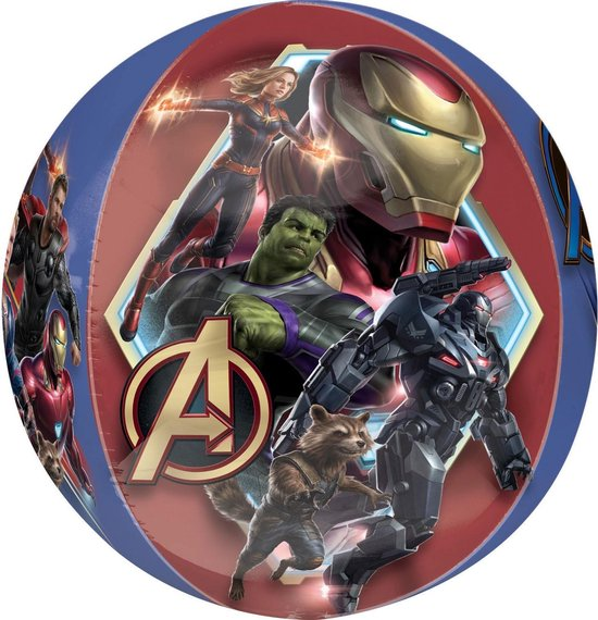 Orbz Folieballon Avengers Endgame 38 X 40 Cm Blauw/rood