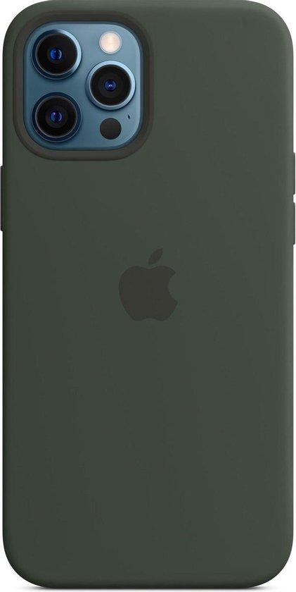 Siliconenhoesje met MagSafe voor iPhone 12 Pro Max - Cyprus groen