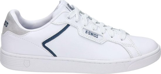 K-Swiss Clean Court heren sneaker - Wit blauw - Maat 43