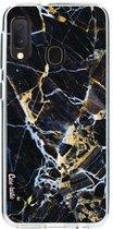 Samsung Galaxy A20e hoesje Black Gold Marble Casetastic Smartphone Hoesje softcover case