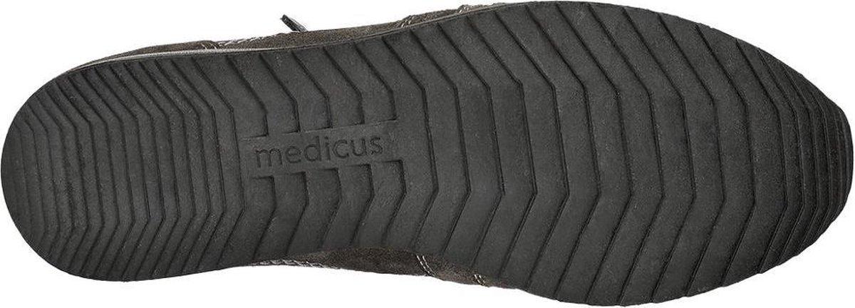 Medicus Dames Grijze suède sneaker sierrits - Maat 39 seqLp