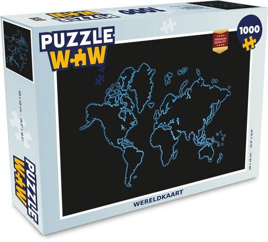 Puzzel 1000 stukjes volwassenen Wereldkaarten 1000 stukjes - Wereldkaart  - PuzzleWow heeft +100000 puzzels