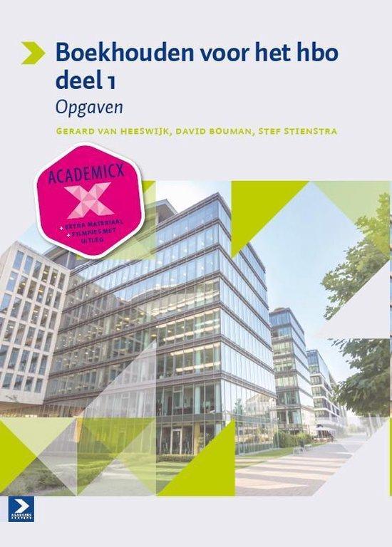 Boek cover Boekhouden voor het hbo 1 Opgaven van Gerard van Heeswijk (Paperback)