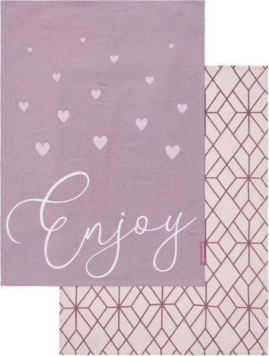 Enjoy Tea Towel 2 pcs