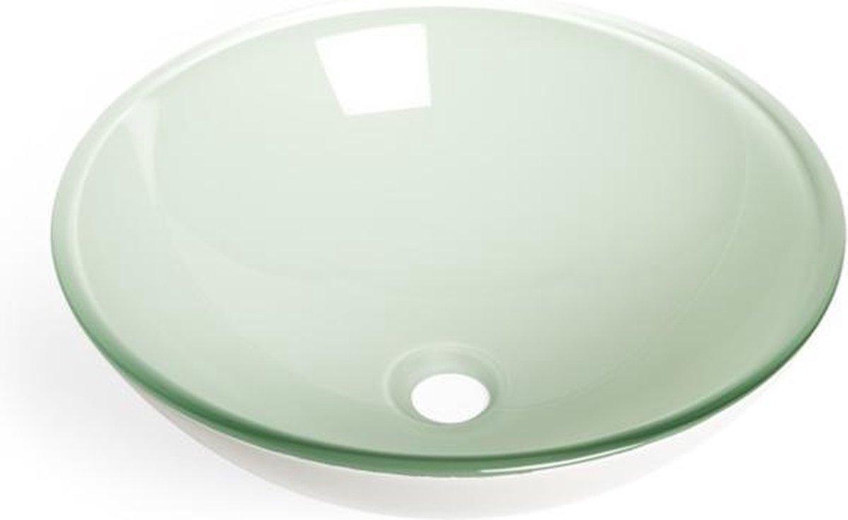 Saniclass Pesca Fragola waskom 42x14,5cm rond gehard glas wit