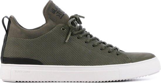Blackstone Vrouwen Suède Lage sneakers / Herenschoenen SG28 – Groen – Maat 45