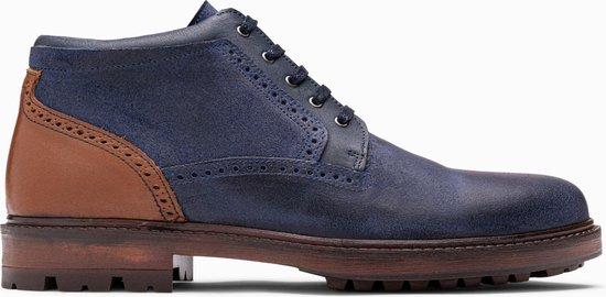 Paulo Bellini Boots Savona Leather Blue Cognac