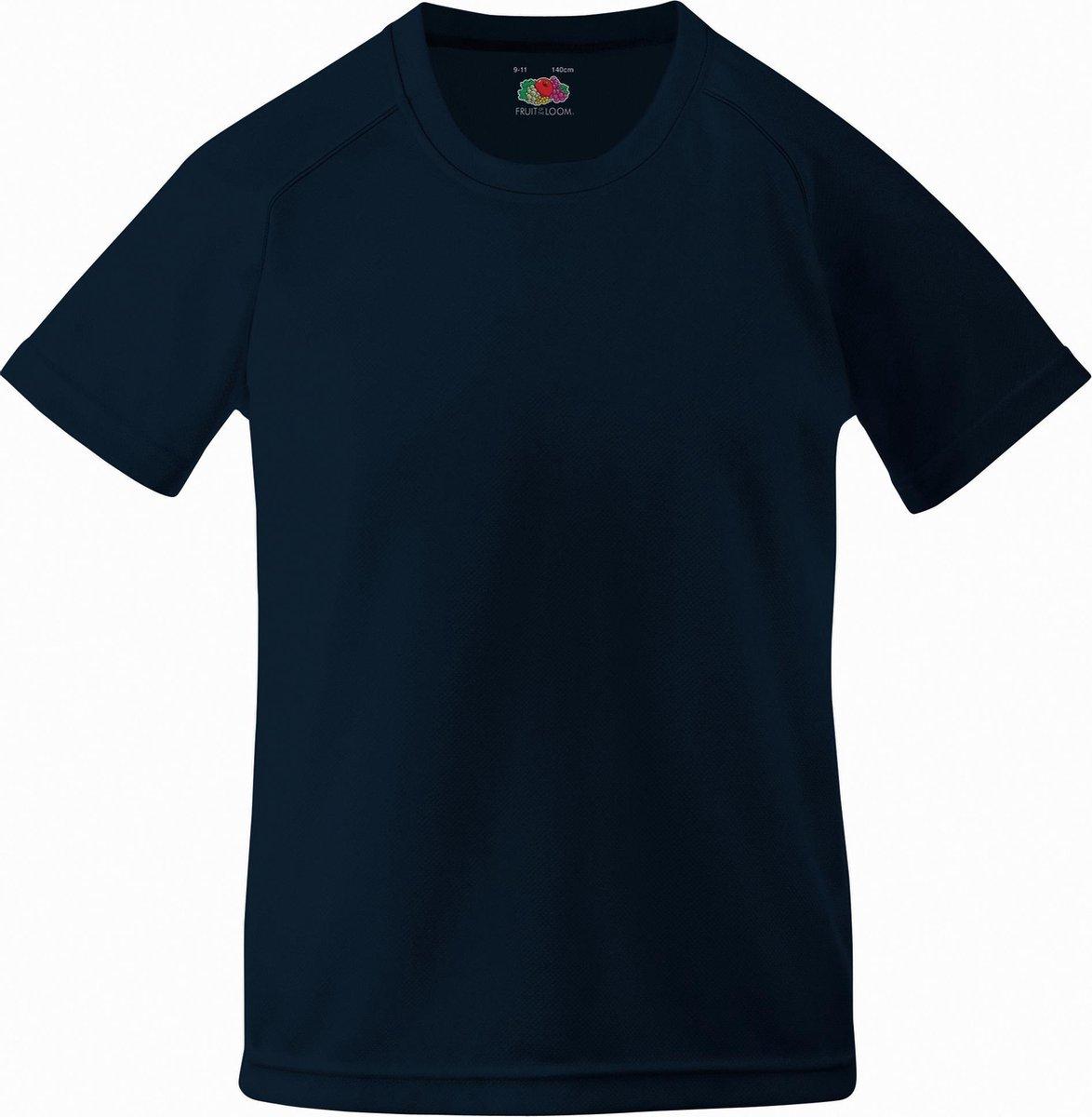 Fruit Of The Loom Kinder Unisex Performance Sportskleding T-shirt (Diep Marine)
