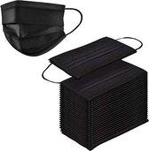 100 stuks - Wegwerp 3-laags gezichtsmaskers, hoge filtreerbaarheid, geschikt voor de gevoelige huid (zwart)