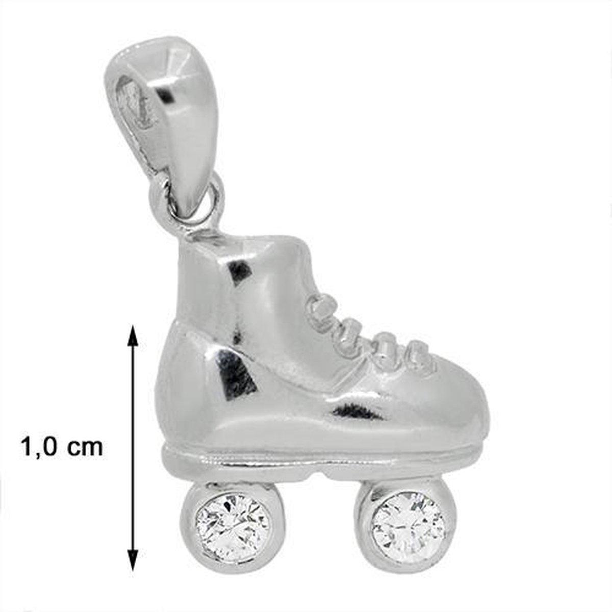 Blinx Jewels Zilveren Hanger Rolschaats Stenen Zirkonia