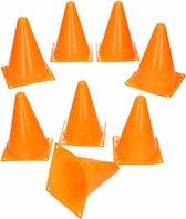 12x Sport/voetbal training pionnen oranje 17 cm - Sport - Veldsporten - Training pion/kegel/accessoires