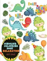 dinosaur colouring book relaxation anti stress