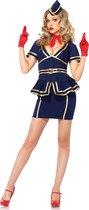 Leg Avenue - Stewardess Kostuum - Verkleedkleding - Maat L