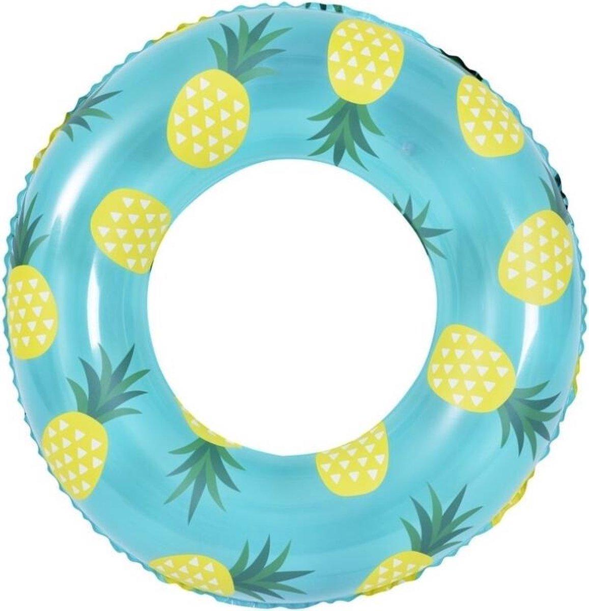 Jilong Zwemband Sunclub Ananas 90 X 35 Cm Vinyl Lichtblauw