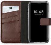 iPhone 12 Mini hoesje bookcase - iPhone 12 Mini wallet case - hoesje iPhone 12 Mini bookcase - Leer - Bruin - Selencia Echt Lederen Bookcase