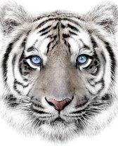 Animal Pictures Fleece deken Tijger - 120 x 150 cm - Wit