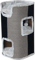 Krabpaal klimmeubel 2-gaats grijs / zwart 75 cm