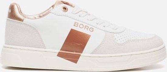 Bjorn Borg T1020 - Wit-brons Dames Sneakers Casual Schoenen Leer Maat 38 QP2XBl