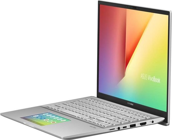 ASUS VivoBook S15 S532FL-BQ210T Notebook Zilver 39,6 cm (15.6'') 1920 x 1080 Pixels Intel® 10de generatie Core™ i5 8 GB DDR4-SDRAM 512 GB SSD NVIDIA® GeForce® MX250 Wi-Fi 5 (802.11ac) Windows 10 Home
