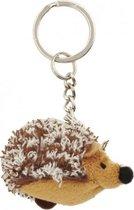 2x Pluche egel knuffel sleutelhanger 6 cm - Speelgoed dieren sleutelhangers