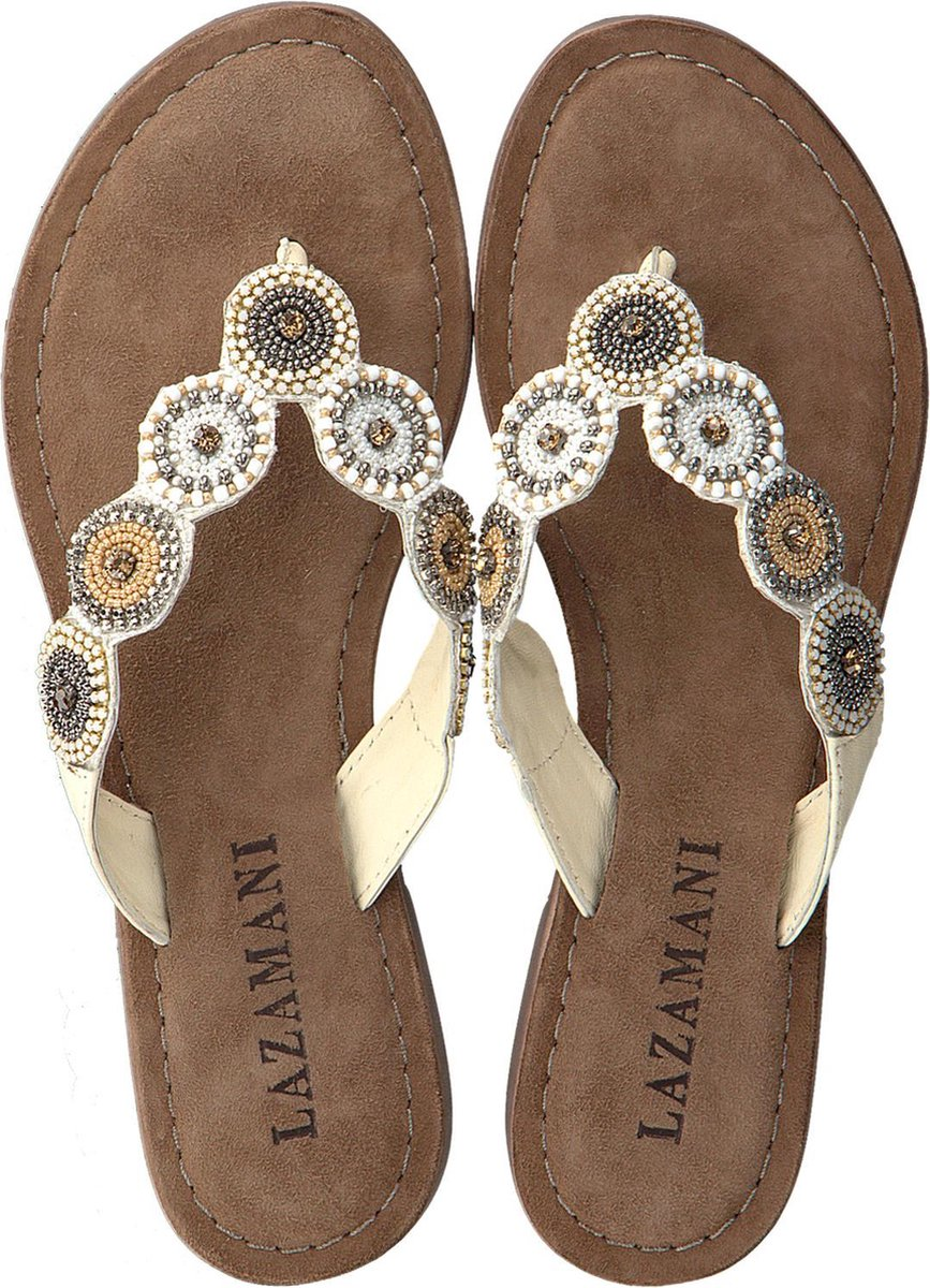 Lazamani Dames Slippers 75.451 - Beige - Maat 41 Slippers