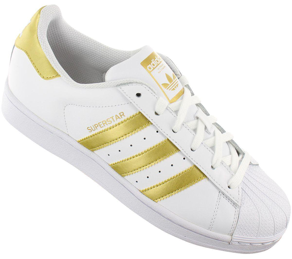 adidas Originals Superstar BY8757 - Dames Sneakers Schoenen Sportschoenen Wit-Goud -... FoFgS