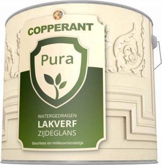 Copperant Pura Lakverf Mat voor buiten - 1 liter - Kleur Bruingroen (RAL 6008)
