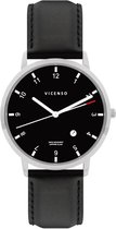 Vicenso Rome VI10016 Zilver Zwart/Zwart
