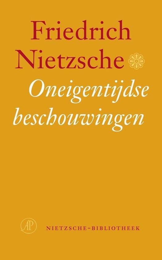Boek cover Nietzsche-bibliotheek - Oneigentijdse beschouwingen van Friedrich Nietzsche (Paperback)
