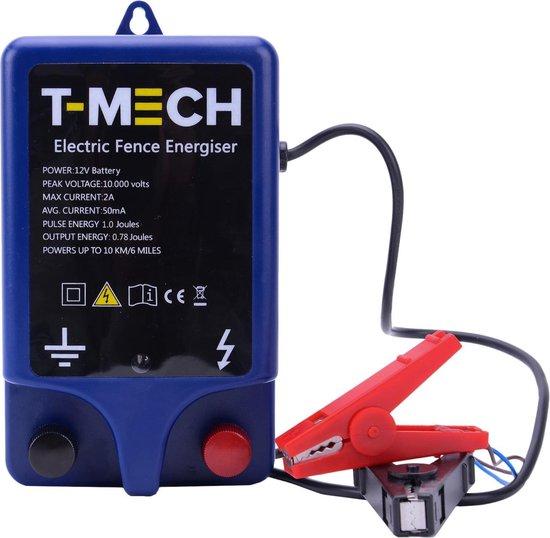 T-Mech Schrikdraad Apparaat - Dekking tot 10 KM - Inclusief accukabel - Krachtige 10.000V, 1.0J schrikdraadapparaat- Piekspanning: 10.000 volt - Waterbestendig tot IPX6