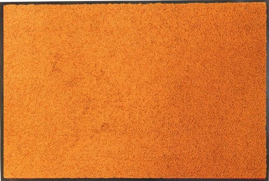 Ecologische droogloopmat oranje - 58 x 118 cm
