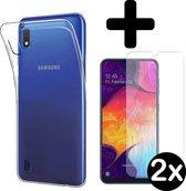 Samsung Galaxy A10 Hoesje Siliconen Case Hoes Met 2x Screenprotector