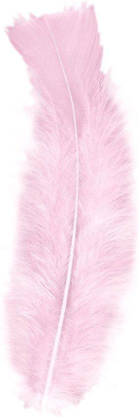 Bol Com 150x Licht Roze Veren Sierveertjes Decoratie Hobbymateriaal 17 Cm Sierveren