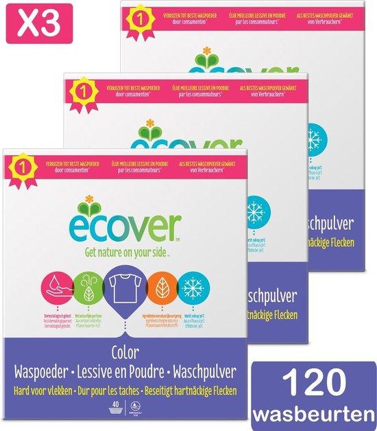 Ecover Waspoeder Color - Voordeelverpakking 3 x 3 kg - 120 Wasbeurten