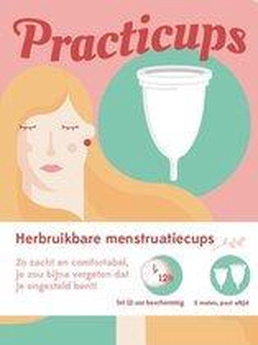 Practicups Herbruikbare Menstruatiecup - 2 stuks