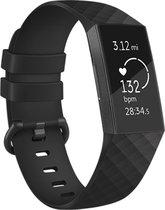 iMoshion Siliconen Smartwatch Bandje voor de Fitbit Charge 3, Fitbit Charge 4 - Zwart