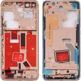 Let op type!! Originele middenframe bezelplaat met zijtoetsen voor Huawei P40 Pro (Goud)