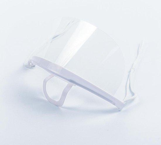 10 stuks -  Transparante mondkapjes met elastiek - Mondkapje Wasbaar - Mondkapje Brildrager - Hygiëne