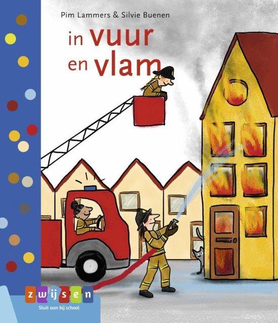 Boek cover Leren lezen AVI M3  -   in vuur en vlam van Pim Lammers (Hardcover)