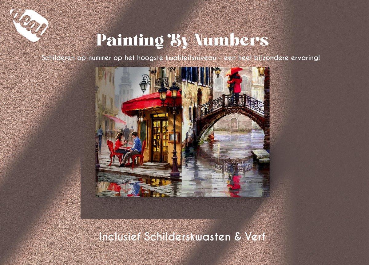 Deal Diamond Painting Schilderen Op Nummer Voor Volwassenen Inclusief Lijst, Canvas, Schilderskwasten & Verf - 40 x 50 cm - VenetieDiamond Painting