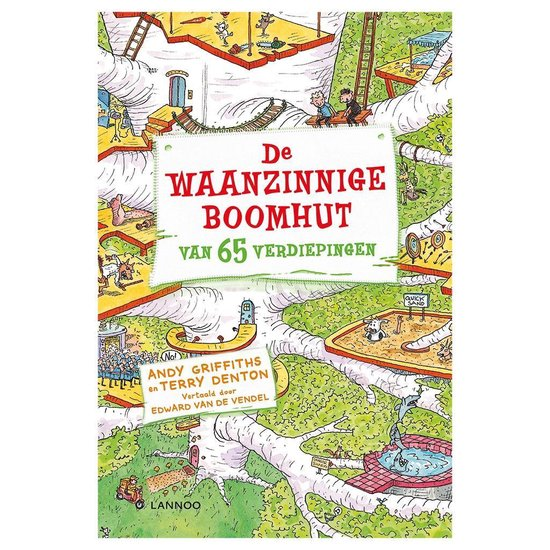 Boek cover De Waanzinnige Boomhut 5 - de Waanzinnige Boomhut Van 65 Verdiepingen van Andy Griffiths (Hardcover)