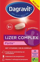 Dagravit Ijzer Complex Forte Voedingssupplement - Framboos - 48 tabletten