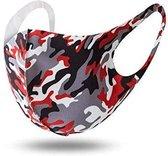 Camouflage Mondmasker | Gezichtsmasker | Mondkapje | Wasbaar | Herbruikbaar | Mond Masker | Rood