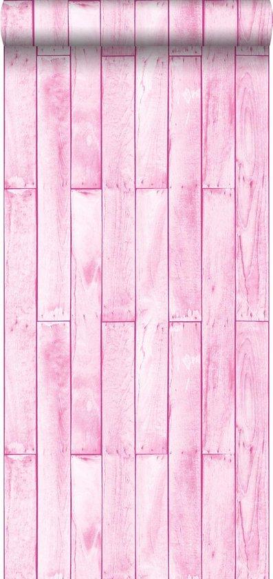 Sanders & Sanders behang houtlook licht roze - 935243 - 53 x 1005 cm